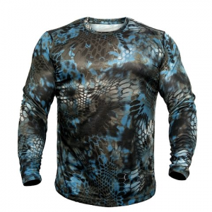 Kryptek Apparel Men ' S Hyperion Long Sleeve Crew Extended Sizes - Neptune