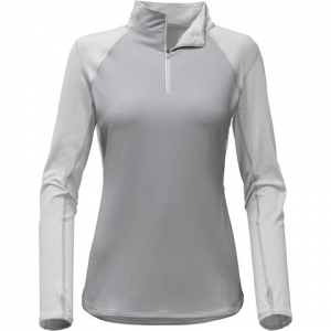 The North Face Women ' S Motivation 1 / 4 Zip Pullover - Tnf Light Grey Heather