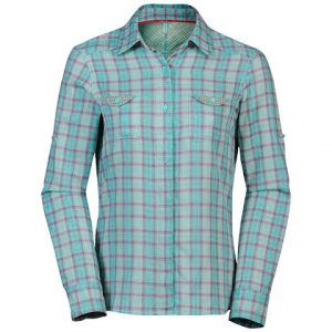The North Face Womens Dark Angel Woven Long Sleeve Shirt - Bonnie Blue