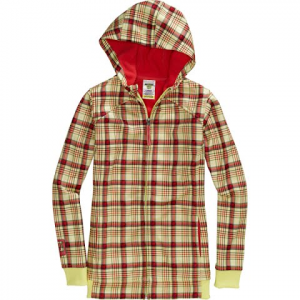Burton Youth Girls Empress Bonded Fleece Hoodie - Funshine Candy Plaid