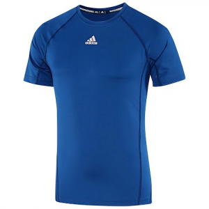 Adidas Mens Fitted Short Sleeve Shirt - Collegiate Royal