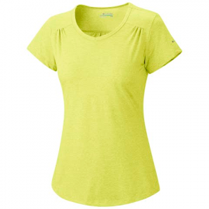 Columbia Women ' S Thistle Ridge Short Sleeve Tee - Fresh Kiwi
