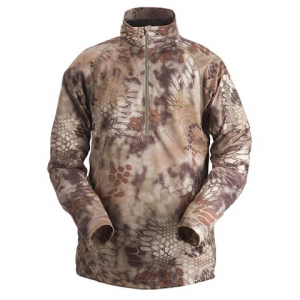 Kryptek Apparel Men ' S Helios 1 / 4 Zip Long Sleeve Pullover - Kryptek Highlander