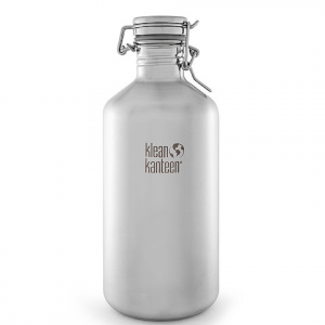 Klean Kanteen 64oz Classic Growler With Swing Lok - Brush Stainless