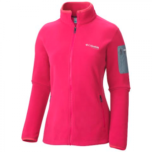 Columbia Women ' S Titan Pass 1 . 0 Fleece Jacket - Bright Geranium