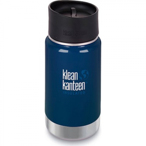 Klean Kanteen 12oz Insulated Wide Bottle With Cafe Cap - Deep Sea