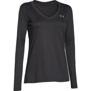 Under Armour Tech Women ' S Long Sleeve - Carbon Heather
