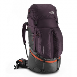 The North Face Women ' S Fovero 70 Internal Frame Backpack - Galaxy Purple / Firebreak Red