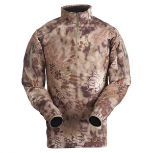 Kryptek Apparel Men ' S Valhalla Long Sleeve Zip - Kryptek Mandrake