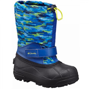 Columbia Youth Toddler Powder Bug Forty Winter Boot - Royal / Zour