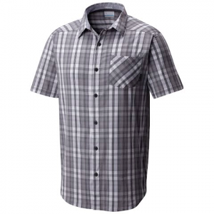 Columbia Men ' S Decoy Rock Ii Short Sleeve Shirt ( Tall Extended Sizes ) - Columbia Grey Plaid