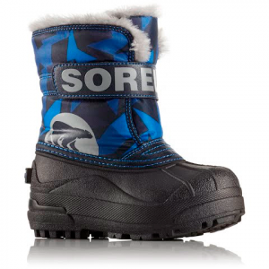 Sorel Youth Toddler Snow Commander Print Boot - Abyss / Super Blue