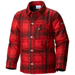 Columbia Youth Boy ' S Agent Avalanche Jacket - Mountain Red Plaid