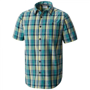 Columbia Men ' S Boulder Ridge Short Sleeve Shirt - Carbon Plaid