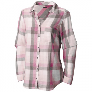 Columbia Women ' S Wild Haven Long Sleeve Shirt - Haute Pink