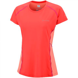 Columbia Women ' S Freeze Degree Iii Short Sleeve - Coral Flame