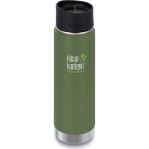 Klean Kanteen 20oz Insulated Wide Bottle With Cafe Cap - Vineyard Green