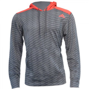 Adidas Men ' S Ultimate Graphic Pull Over Hoodie - Grey / Scarlet