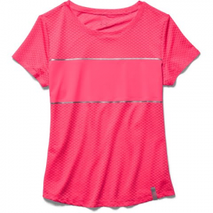 Under Armour Women ' S Fly Fast Short Sleeve - Pink Shock
