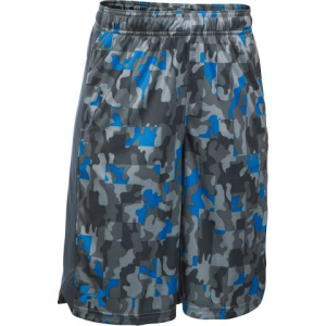 Under Armour Boy ' S Youth Eliminator Printed Short - Black / Stealth Gray