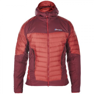 Berghaus Men ' S Ulvetanna Hybrid Hydrodown And Hydroloft Jacket - Red Dahlia