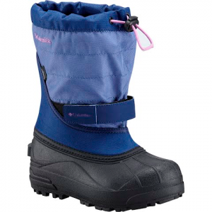 Columbia Youth Preschool Powderbug Plus Ii Winter Boot - Camellia Rose / Grey Ice