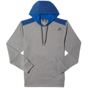 Adidas Men ' S Ultimate Pull Over Hoodie - Charcoal / Blue