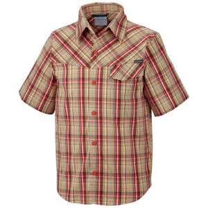 Columbia Boys Youth Silver Ridge Ii Plaid S / S Shirt - Spicy