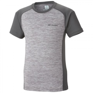 Columbia Youth Boy ' S Super Chill Short Sleeve - Cool Gray