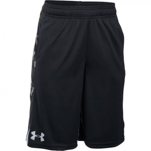 Under Armour Boy ' S Youth Eliminator Printed Short - Black / Foliage Green