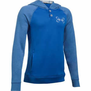 Under Armour Youth Boy ' S Ua Shoreline Terry Hoodie - Blue Marker