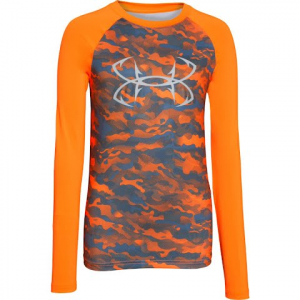 Under Armour Boy ' S Youth Coolswitch Thermocline Long Sleeve Shirt - Traffic Cone Orange
