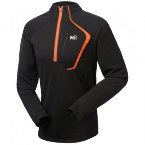 Millet Men ' S Alpine 1 / 2 Zip Long Sleeve Top - Noir
