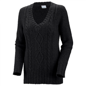Columbia Women ' S Cabled Cutie Long Sleeve Sweater - Coal