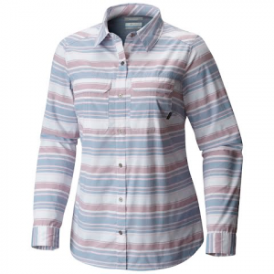 Columbia Women ' S Pilsner Peak Stripe Long Sleeve Shirt - Beacon Stripe