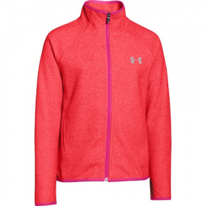 Under Armour Girl ' S Youth Ua Coldgear Infrared Fleece Full Zip - Pomegranate