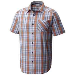 Columbia Men ' S Decoy Rock Ii Short Sleeve Shirt - Koi Plaid
