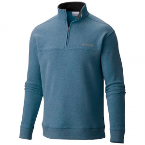 Columbia Men ' S Hart Mountain Half Zip ( Extended Size ) - Blue Heron
