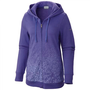 Columbia Women ' S Spotted Ombre Full Zip Sweatshirt - Purple Lotus