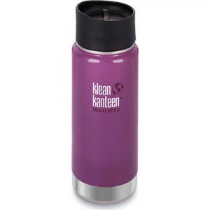 Klean Kanteen 16oz Insulated Wide Bottle With Cafe Cap - Wild Grape