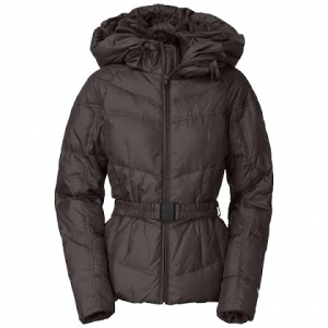 The North Face Womens Collar Back Down Jacket - Graphite Grey