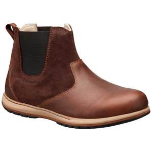 Columbia Men ' S Davenport Chelsea Pull On Leather Boot - Hawk / Grizzly Bear