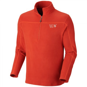 Mountain Hardwear Men ' S Microchill Zip T - Russet Orange