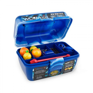 South Bend Worm Gear 88 - Piece Loaded Tackle Box Kit - Blue