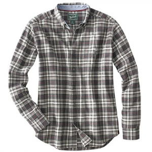 Woolrich Mens Trout Run Flannel Shirt - Black Plaid