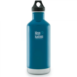 Klean Kanteen 32oz Classic Vaccum Insulated Water Bottle With Loop Cap - Winter Lake