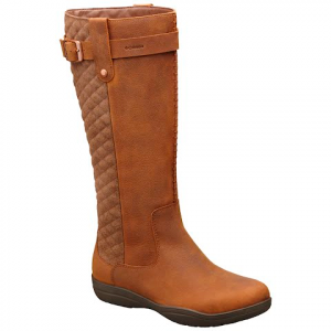 Columbia Women ' S Lisa Waterproof Leather Tall Boot - Tobacco / Cordovan