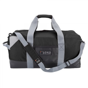 Lewis N . Clark Heavy Duty Duffel With Neoprene Gear Bag 24 Inch - Black