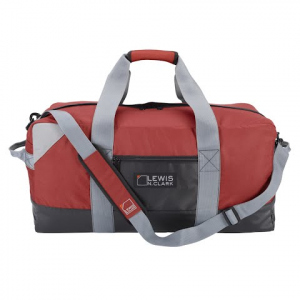Lewis N . Clark Heavy Duty Duffel With Neoprene Gear Bag 24 Inch - Red