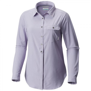 Columbia Women ' S Bryce Canyon Stretch Long Sleeve Shirt - Soft Violet Texture Plaid